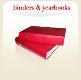 binders and yearbooks